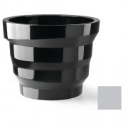 Plust Collection Vaso In Polietilene Rebelot 135 Altezza 102 Cm Argento Metallizzato Indoor/Outdoor 6824-C8