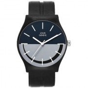 Louis Geneve Isport Series Analogue Watch Unisex For Men And Women - (LG-MLW-BLG-BLACK-80)