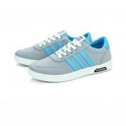 Zapatillas Zapatos De Lona Tenis Deportivos Ocio Colores Mixtos Para Hombres Jogging -Gris
