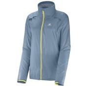 Salomon Agile Jacket Lady Gris/Verde XL