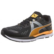 Puma Men's Speed 600 Ignite Black, Quarry and Orange Pop Running Shoes - 8 UK/India (42 EU)