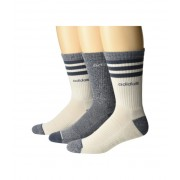 adidas 3-Stripe Crew Socks 3-Pack Raw WhiteOnixRaw White MarlOnix