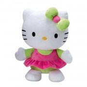 Jemini hello kitty knuffel doll pluche meisjes groen 25 cm