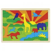 "Puzzle ""In mijlocul junglei"" multicolor"