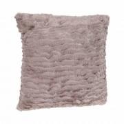 Atmosphera Créateur d'intérieur Dekorativní polštář, polštářek s imitace kožešiny, polyester 45x45 cm, hnědá barva