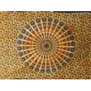 Mandala textil falikép