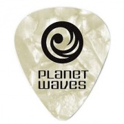Planet Waves White Pearl Celluloid Guitar Picks 100 pack Light
