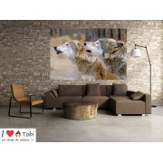 Tablou grand canvas lupi in salbaticie - cod Z12