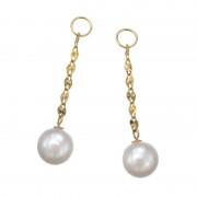 18K アコヤパール&エクレアチェーン チャーム【QVC】40代・50代レディースファッション