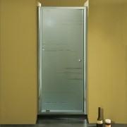 Porta doccia ad un battente 3303 da 86/94 cm in cristallo 6 mm Brill Satinato