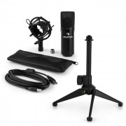 MIC-900B USB Set Microfono V1   Condensatore-Microfono nero  Stativo