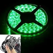 16.4ft 5M 300Leds Waterproof Green Led Strip Light 3528 DC12V 60Leds/M Black PCB Fiexble Light Led Ribbon Tape Home Decoration Lamp