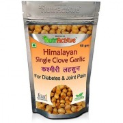 NutrActive Himalayan Single Clove Garlic for Control Diabetes Joint Pain Kashmiri Lehsun (Pack of 1)