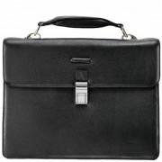 Piquadro Modus Aktentasche Leder 40 cm Laptopfach schwarz