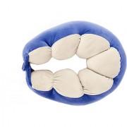 Indians Boutique's Unisex U-Shaped Micro Fibre Soft Cushions Neck Rest Pillow for Travel Car Train Flight Bus (Blue)