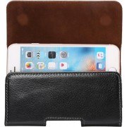 Let op type!! 5.7 inch Litchi Texture Vertical Flip Thwartwise Genuine Leather Case / Waist Bag with Rotatable Back Splint for iPhone 7 & 6s Plus & 6 Plus Galaxy Note 8 & Galaxy S6 Edge+ & A9 & A8 Huawei Mate 8 & Mate7 etc