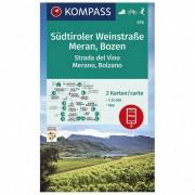 Kompass Wanderkarte Südtiroler Weinstraße, Meran, Bozen Carta escursionistica