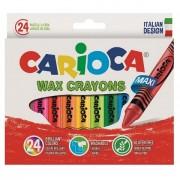 Set 24 creioane colorate cerate-Carioca