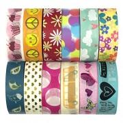 Allydrew Washi Decorative Masking Tapes (Set of 12), Girl Power