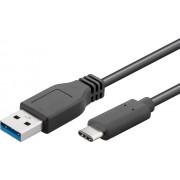 Cavo SuperSpeed USB3.0 A Maschio / USB-C Maschio 50cm Nero
