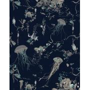 ユニセックス 17 PATTERNS Jellyfish デコレーション ダークブルー