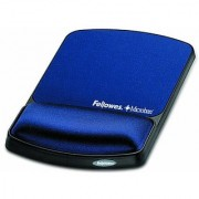 Fellowes Gel Wrist Support And Mouse Pad with Microban Protection Sapphire (9175401)