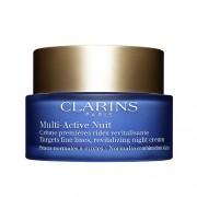 Clarins - multi-active creme nuit legere - crema viso notte prime rughe per pelli da normali a miste 50 ml
