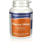 Simply Supplements Hierro 14mg - 120 Comprimidos