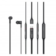 HUAWEI FreeLace Nickel-Titanium Alloy+Silicone Bluetooth IP55 Daily Waterproof Wireless Earphone - Black