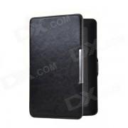 Estilo de adsorcion R64 patron de cuero de proteccion funda de cuero para Amazon Kindle Paperwhite - Negro