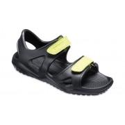 Crocs Swiftwater™ River Sandalen Kinder Black / Volt Green 32