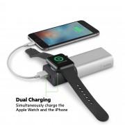 Belkin Valet Charger Power Pack 6700 mAh - преносима външна батерия за зареждане на Apple Watch и мобилни устройства (сребрист)