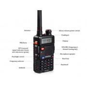 Statie Radio Walkie Talkie Baofeng UV-5R Dual Band Transceiver