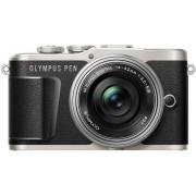Aparat Foto Mirrorless Olympus PEN E-PL9 Pancake Zoom Kit + Obiectiv EZ-M1442EZ, 16.1 MP, Filmare Full HD (Negru)