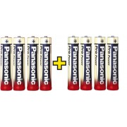 Set 8 baterii alcaline AAA, Panasonic Pro Power