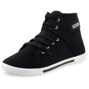 Chevit MenS Black Sneakers Lace-Up Shoes (Boxer-BK-CVT)
