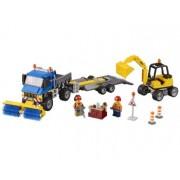 LEGO® City Great Vehicles Maturatoare mecanica si excavator - L60152