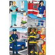 Platapilla USA PPAFS2X3029 Occupations Set Of 4 Tray Puzzles