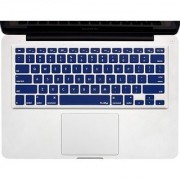 Kuzy - NAVY BLUE Keyboard Cover Silicone Skin for MacBook Pro 13 15 17 (with or w/out Retina Display) iMac and MacBook Air 13 - Navy Blue