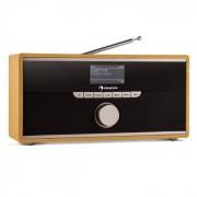 Auna Weimar Radio numérique internet & Bluetooth tuner DAB/DAB+ AUX -bois