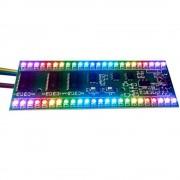 VU Metru Dublu cu 24 LED-uri RGB