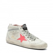 """GOLDEN GOOSE Sneakers """"Mid Star"""" da donna in suede bianche"""