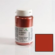 Colorant Alimentar Liposolubil Pudra Metalizata, Rubiniu, 25 gr - Azo Free