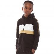 Closure London Junior Colour Block Hoodie Black/Gold/White