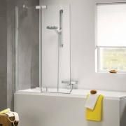Get Wet by Sealskin Badwand Custom 100X140 Cm Zilver Hoogglans Helder Glas Links