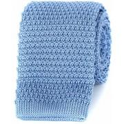 Profuomo Krawatte Gestrickt Wolle Blau - Blau