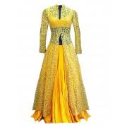 Bhagalpuri & Net Embroidered Yellow Lehenga Suit - EBSFSK28927 ( EBSFSK28 )