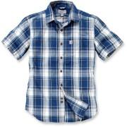 Carhartt Slim Fit Plaid Camisa de manga corta Azul/Blanco L