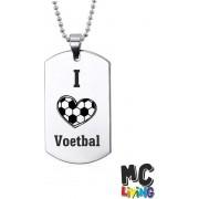 Ketting RVS - I Love Voetbal