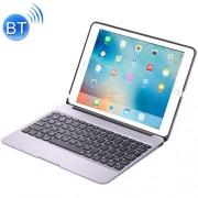 F06 for iPad Pro 9.7 inch Portable Foldable Aluminium Alloy Wireless Bluetooth Backlight Keyboard(Silver)